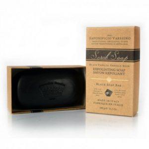 Savon Exfoliant Au Charbon Parfum Vanille Saponificio Varesino